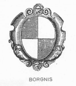 Borgnis coat of arms (source: De Maurizi)
